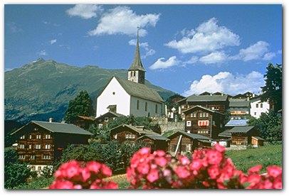 Ernen mit Dorfkirche